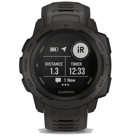 Garmin Instinct GPS Watch, Grafit