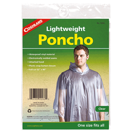Coghlans Lightweight Poncho Clear